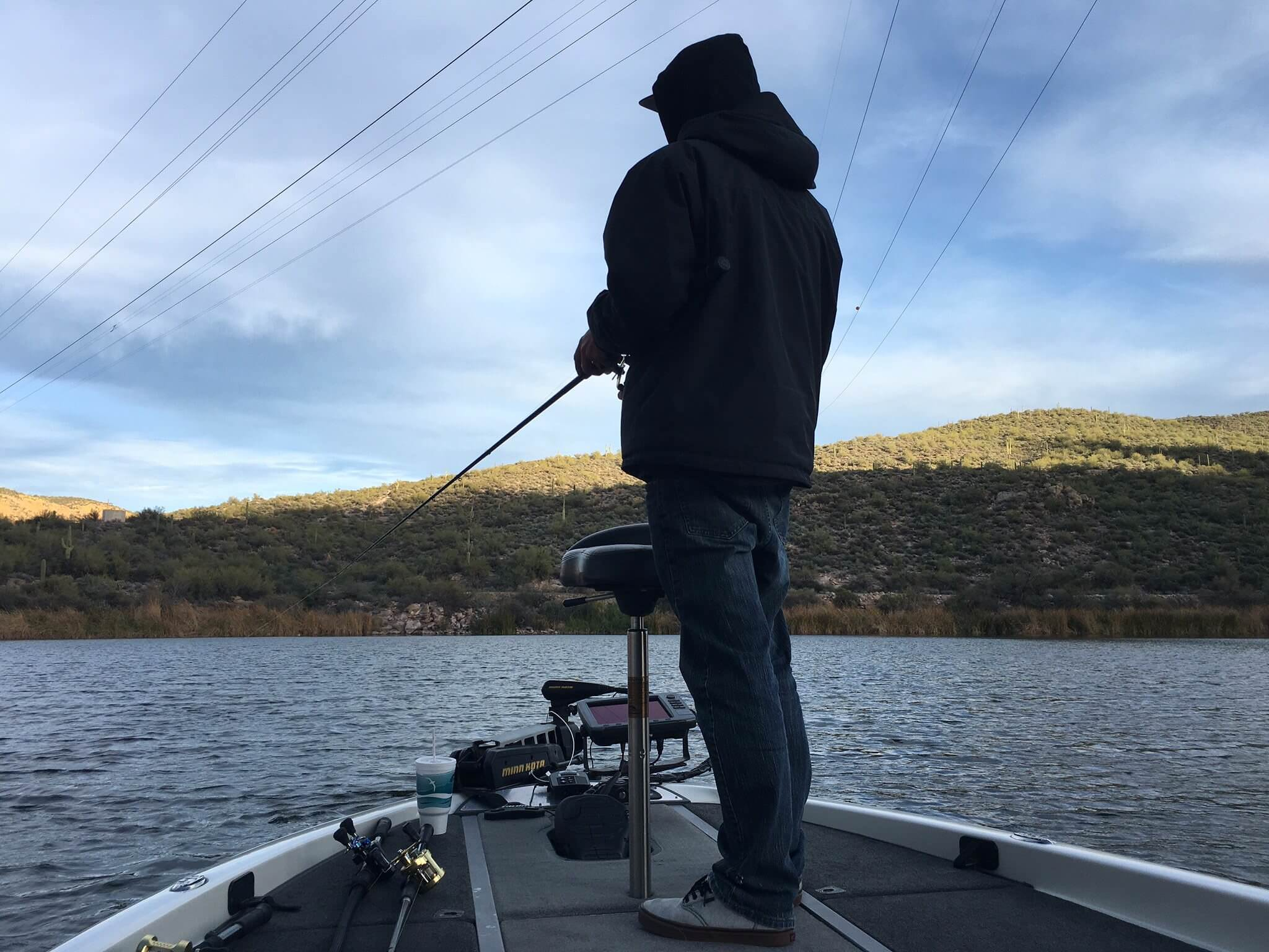 bass fishing at Canyon Lake