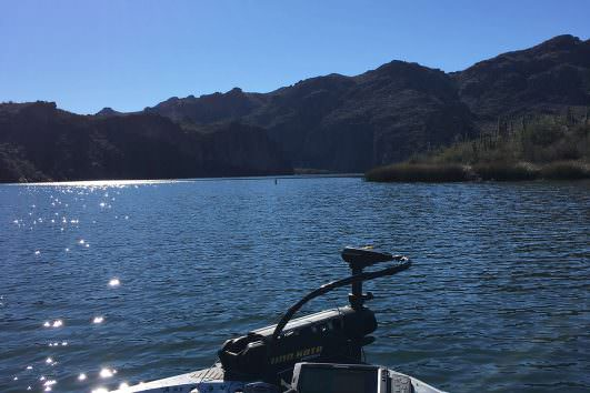 Fishing on Lake Saguaro in Arizona