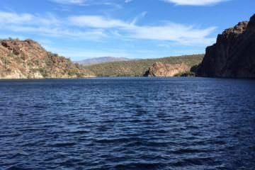 Saguaro lake fishing in Arizona